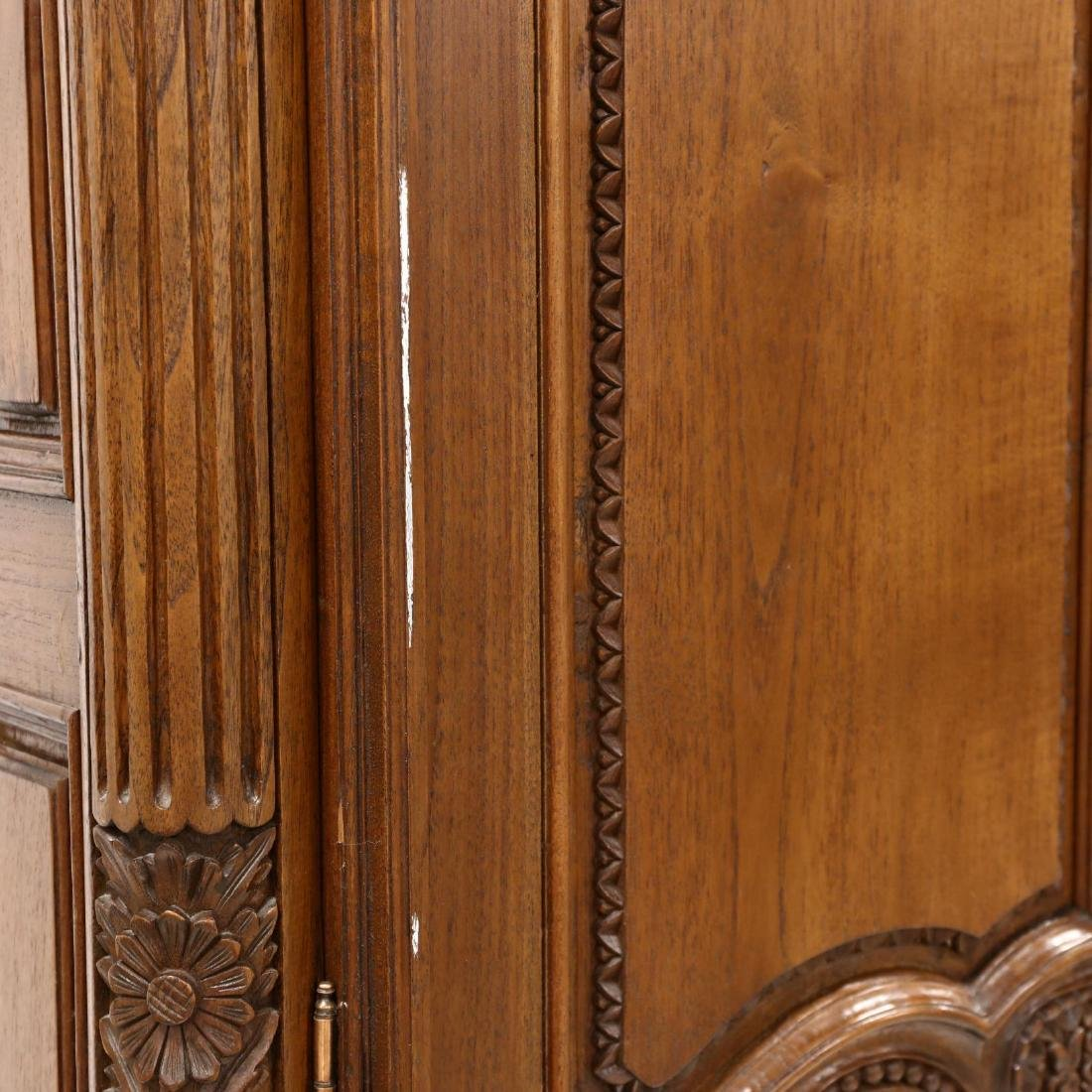 French Provincial Style Carved Mahogany Armoire - 7