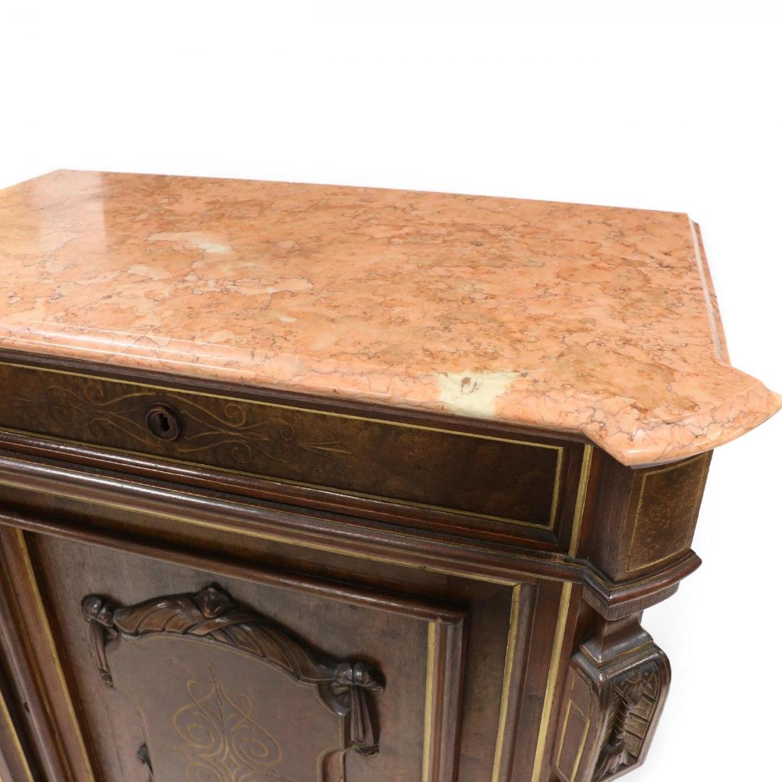 American Renaissance Revival Marble Top Cabinet - 2