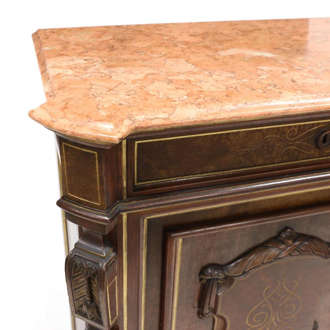 American Renaissance Revival Marble Top Cabinet - 3