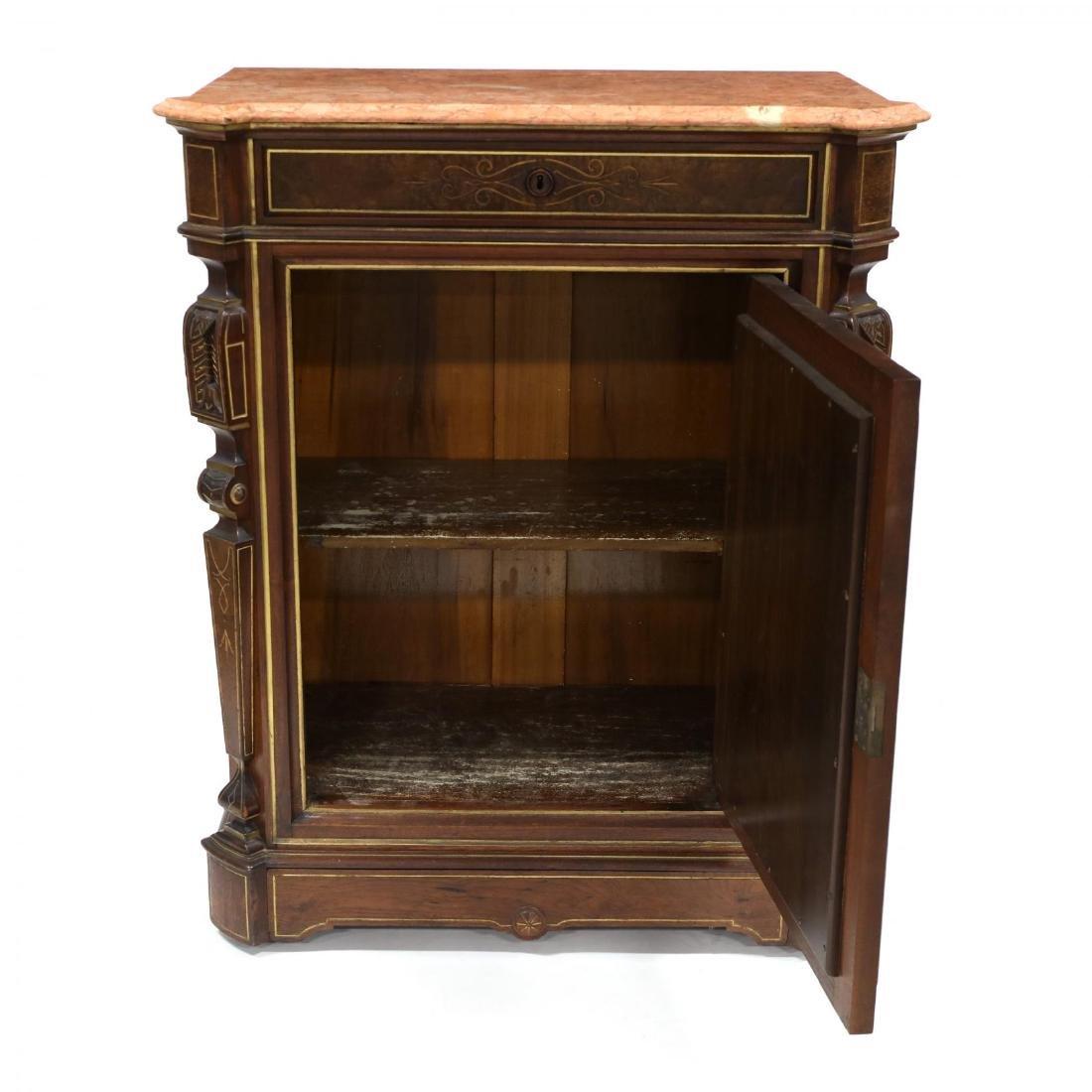 American Renaissance Revival Marble Top Cabinet - 4