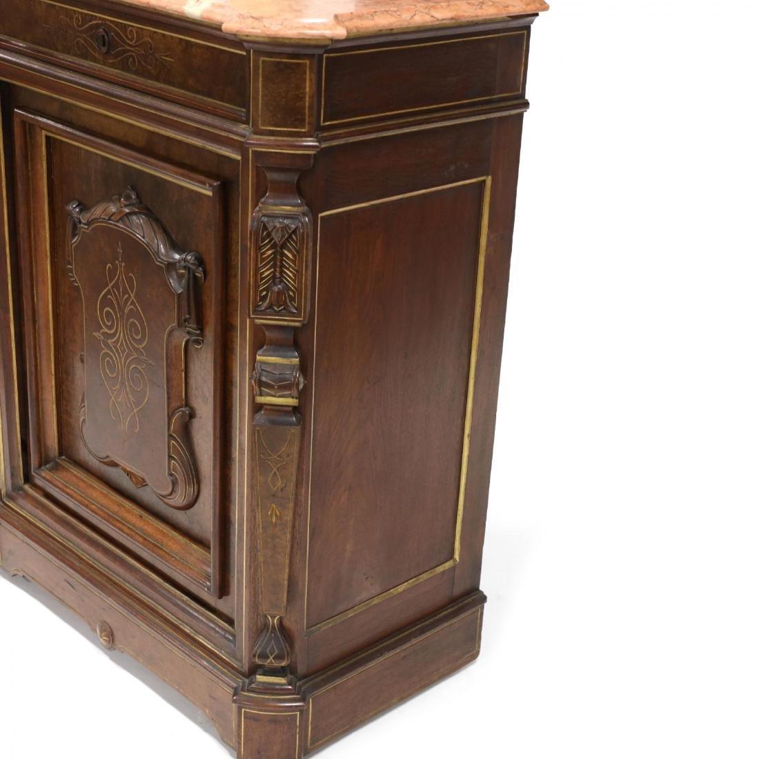 American Renaissance Revival Marble Top Cabinet - 5