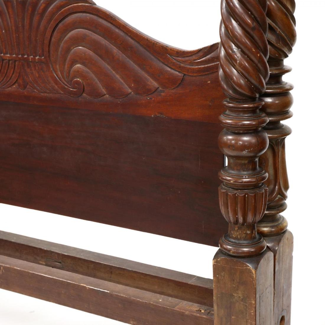 American Classical Carved Mahogany Plantation Bed - 2