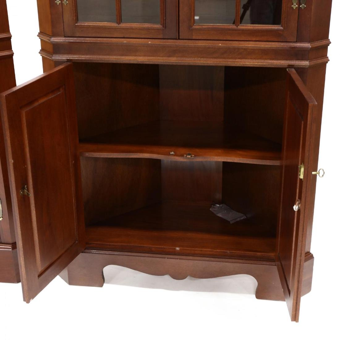 Craftique, Pair of Chippendale Style Mahogany Corner - 3