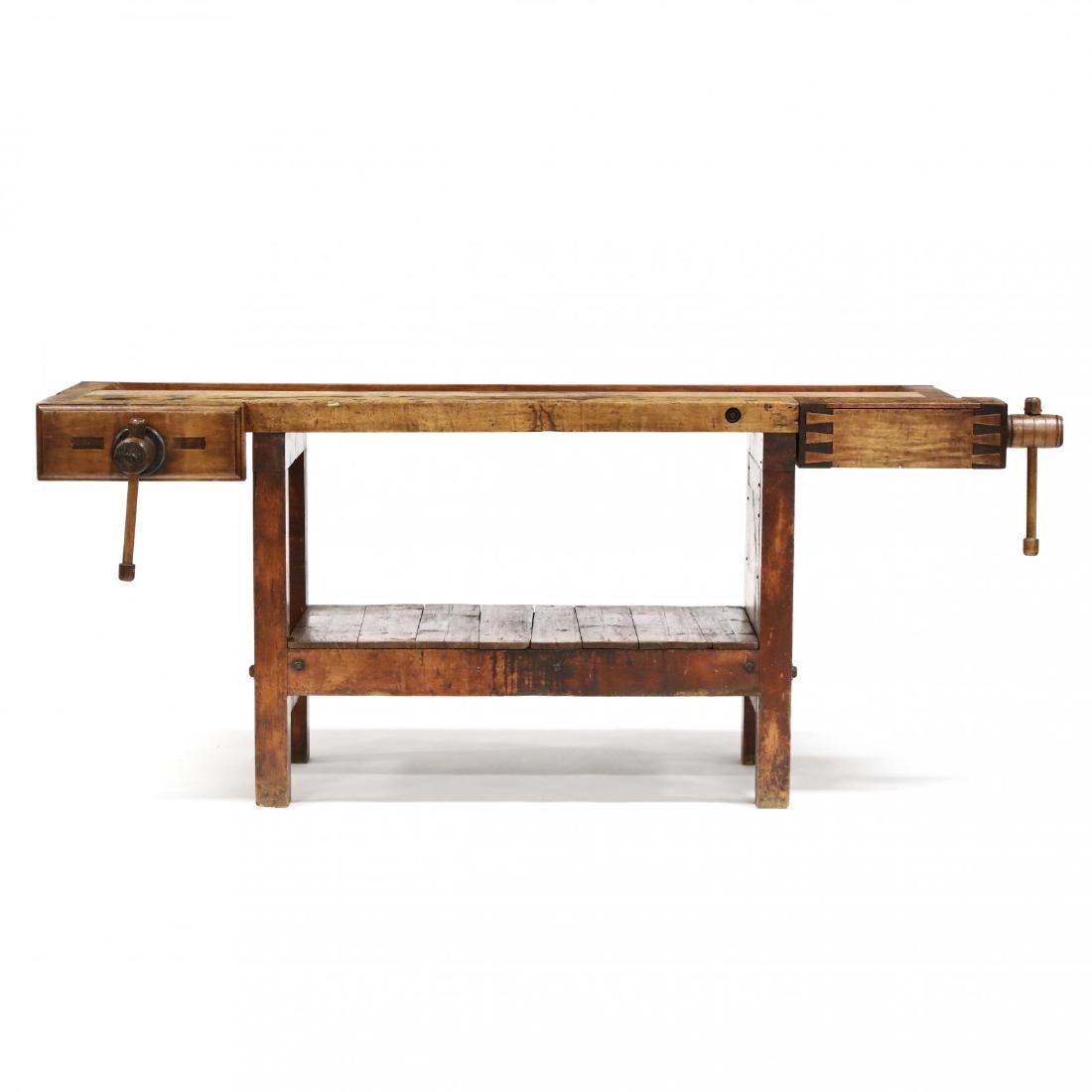 Antique Industrial Workbench / Desk