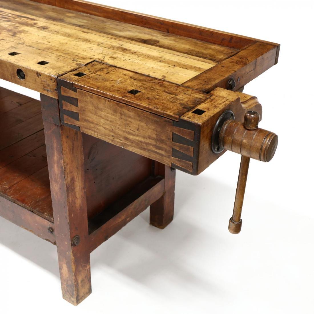 Antique Industrial Workbench / Desk - 2