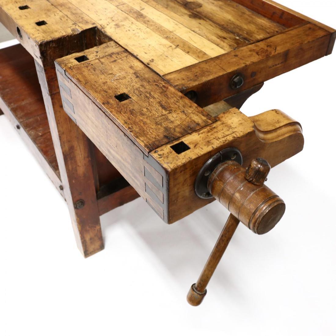 Antique Industrial Workbench / Desk - 3