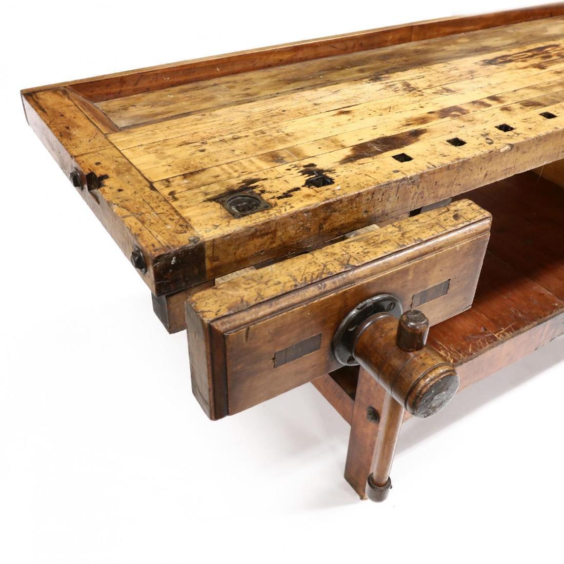 Antique Industrial Workbench / Desk - 5