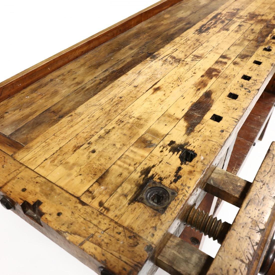Antique Industrial Workbench / Desk - 6