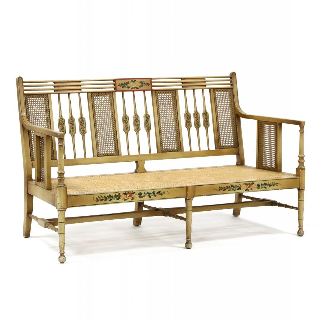 Elgin A. Simonds Furniture Co., Vintage Painted Caned