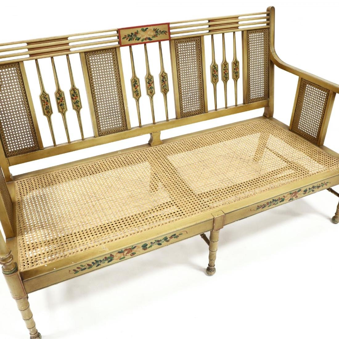 Elgin A. Simonds Furniture Co., Vintage Painted Caned - 2
