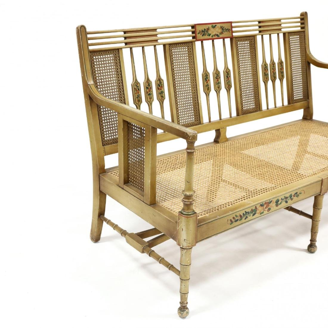 Elgin A. Simonds Furniture Co., Vintage Painted Caned - 4