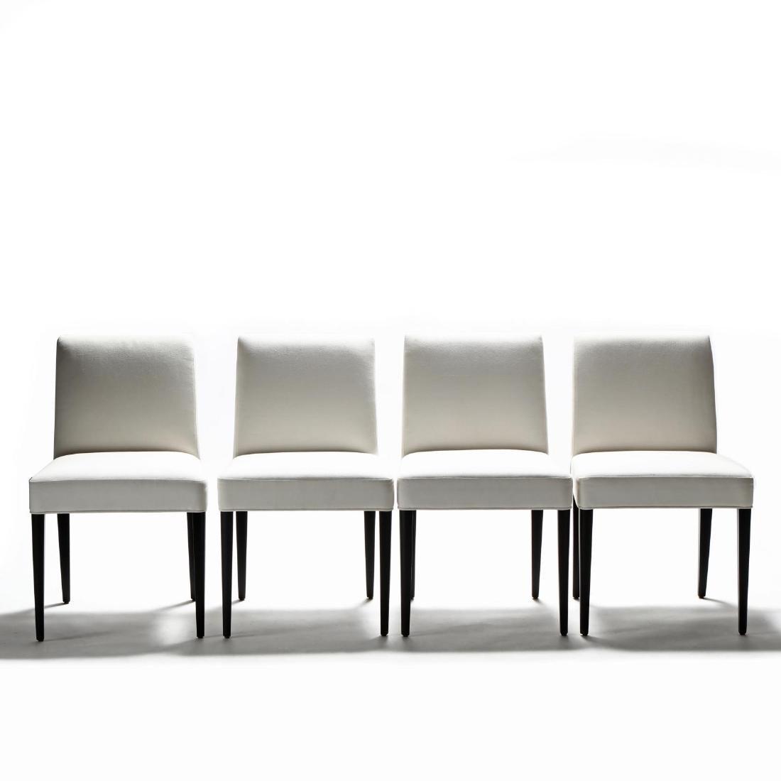 Kara Mann, Set of Four Contemporary Upholstered Dining