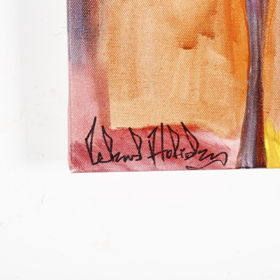Navajo Folk Painting of a Moose by Leland Holiday - 2