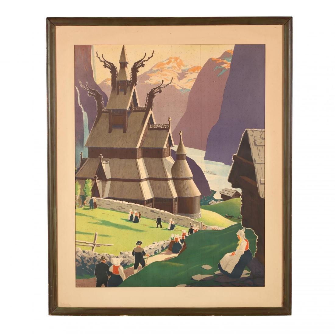 Ivar Gull (20th Century), Vintage Travel Poster, Norway