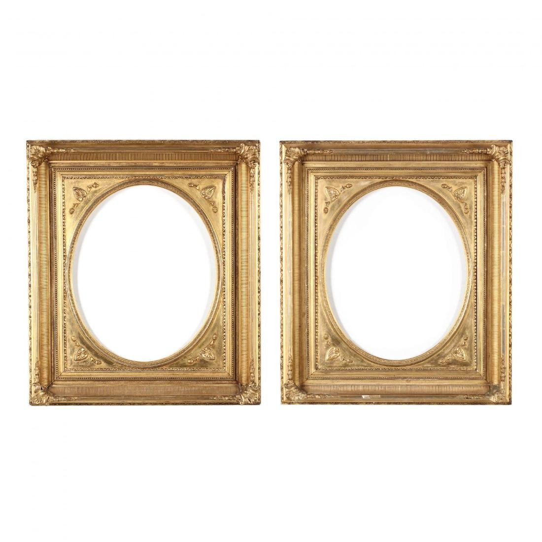 A Pair of Mid-19th Century American Gilt Frames