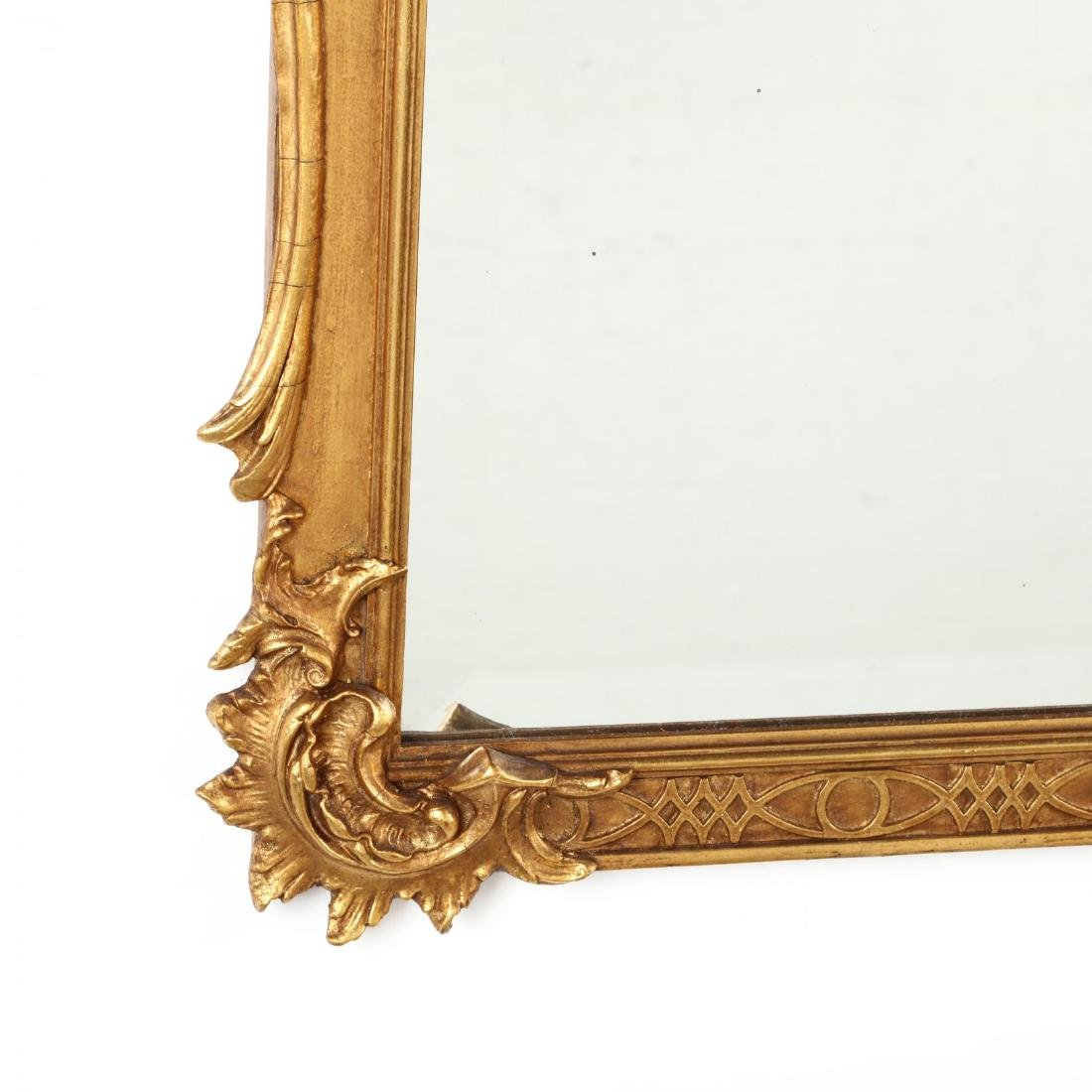 Rococo Style Carved and Gilt Over Mantel Mirror - 3