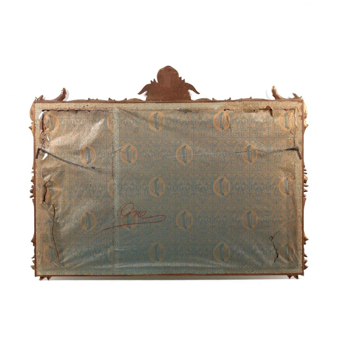 Rococo Style Carved and Gilt Over Mantel Mirror - 4