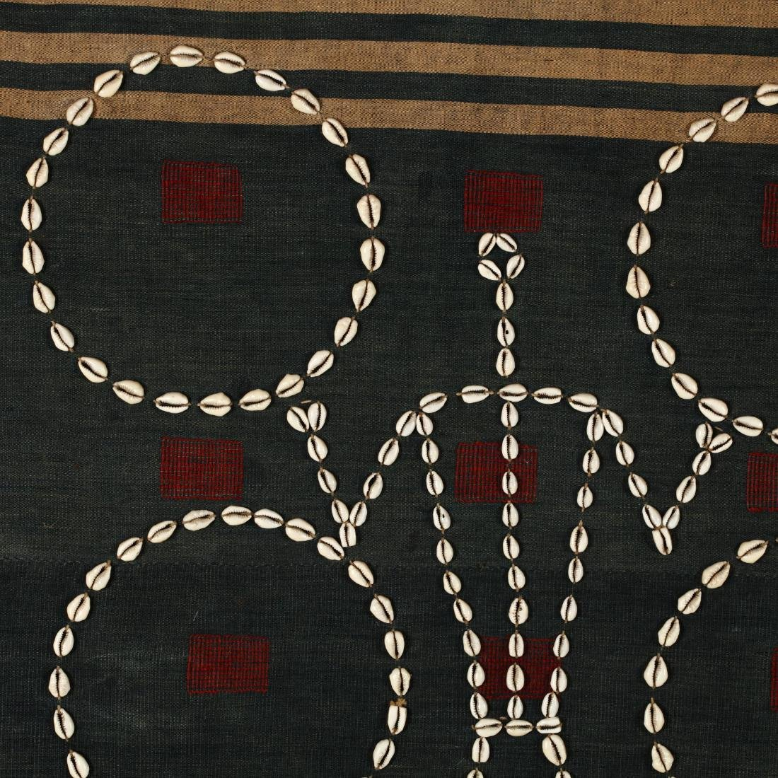 Naga Tribal Blanket with Cowrie Shells - 2