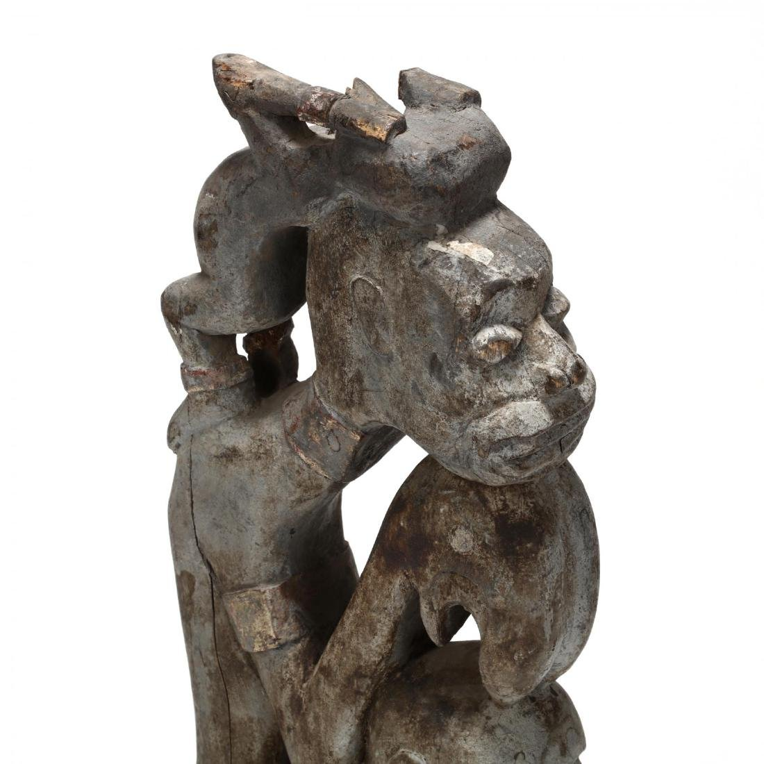 African Painted Figural Carving - 2