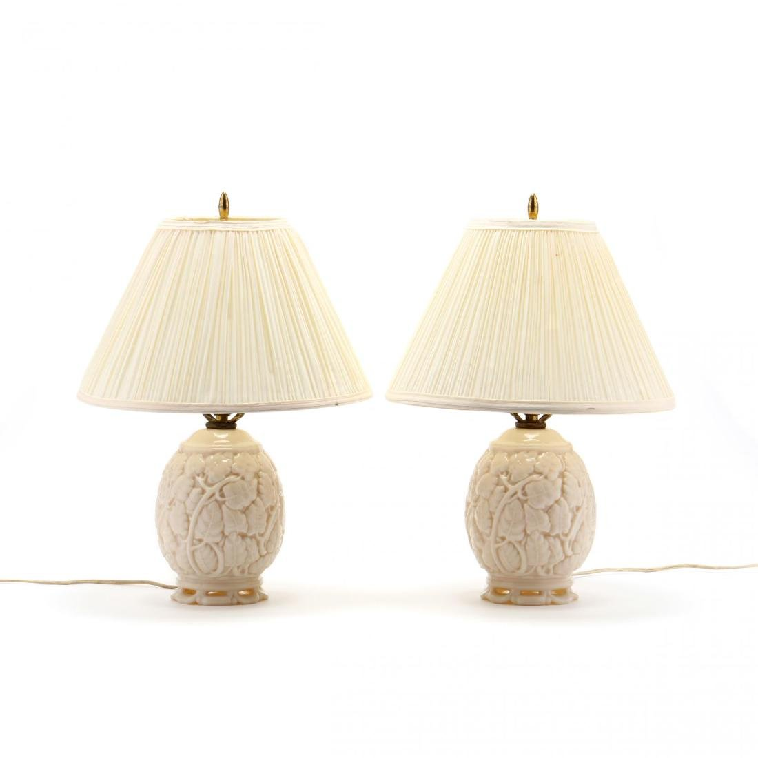 Pair of Art Deco Consolidated Glass Table Lamps