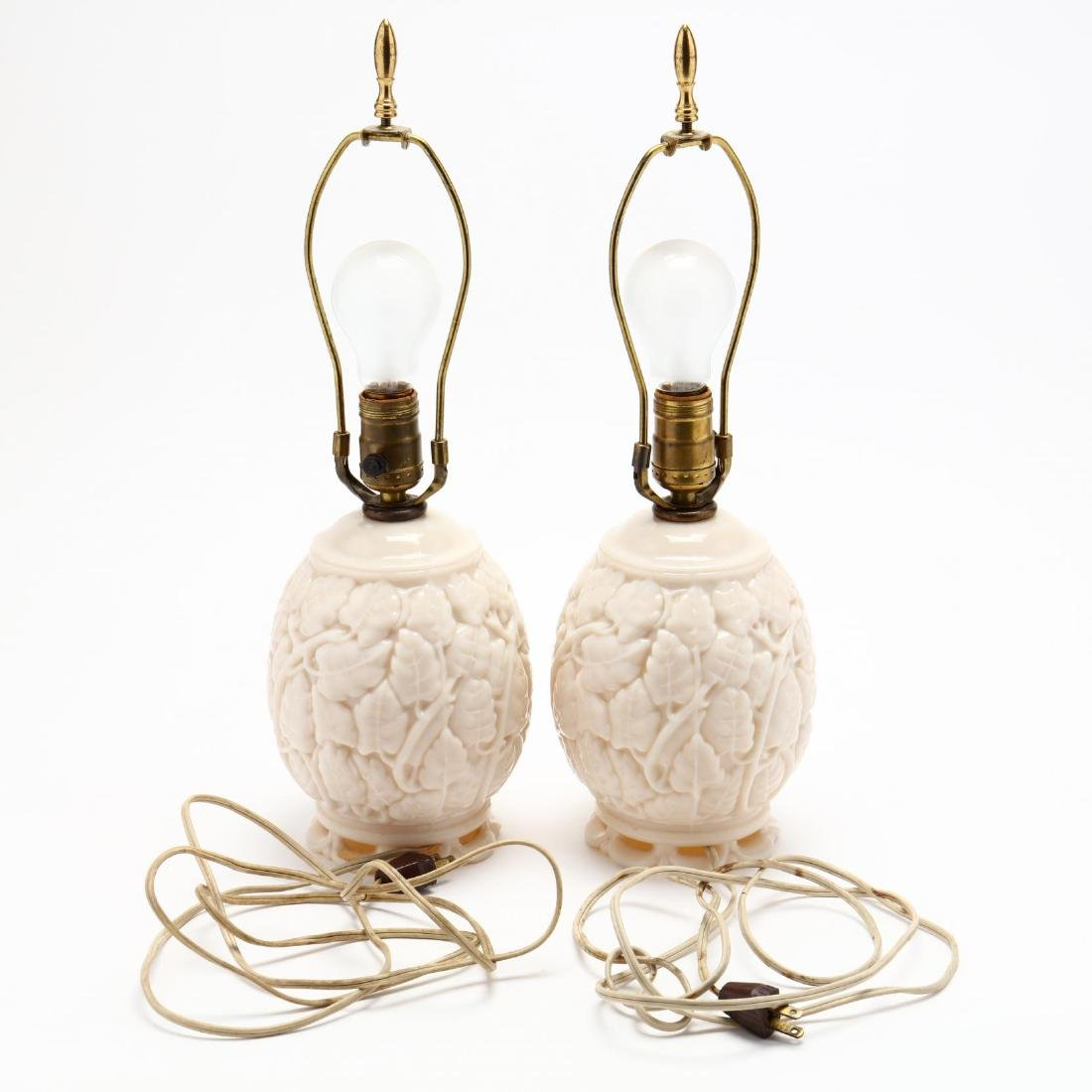 Pair of Art Deco Consolidated Glass Table Lamps - 4