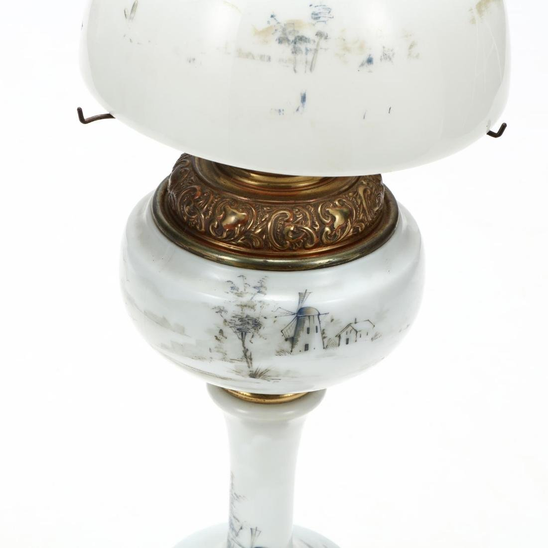 Plume & Atwood, Victorian Painted Glass Oil Lamp - 2