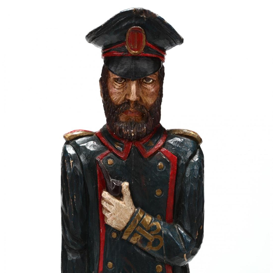 Folk Art Carved and Painted Captain - 2
