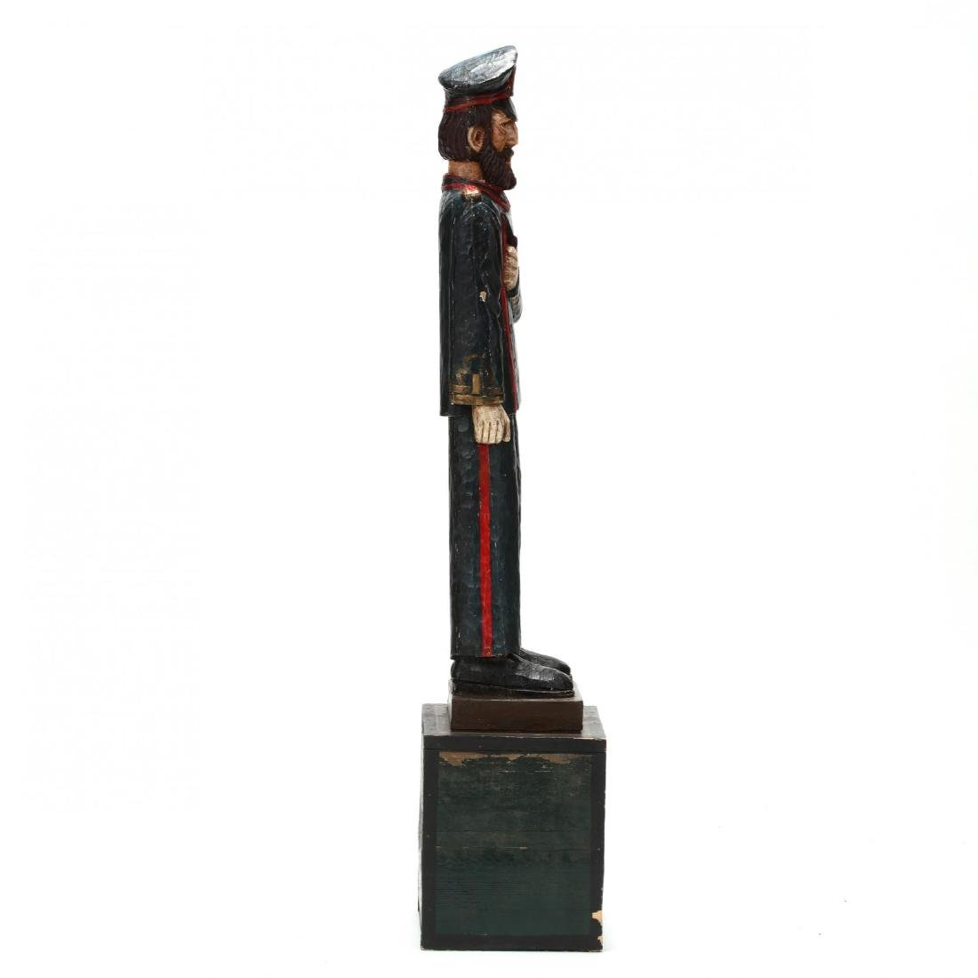Folk Art Carved and Painted Captain - 3