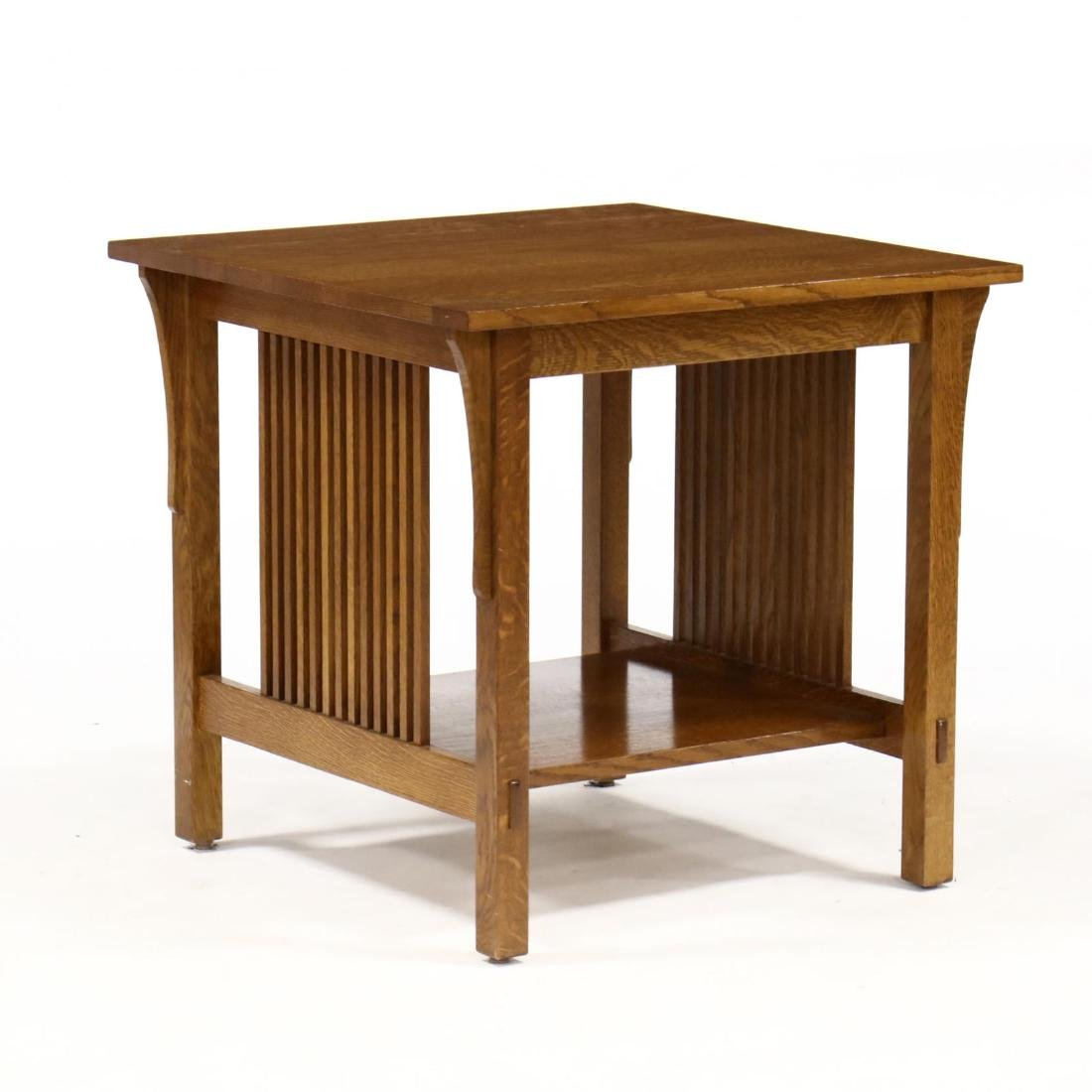 Stickley, Mission Style Oak Side Table