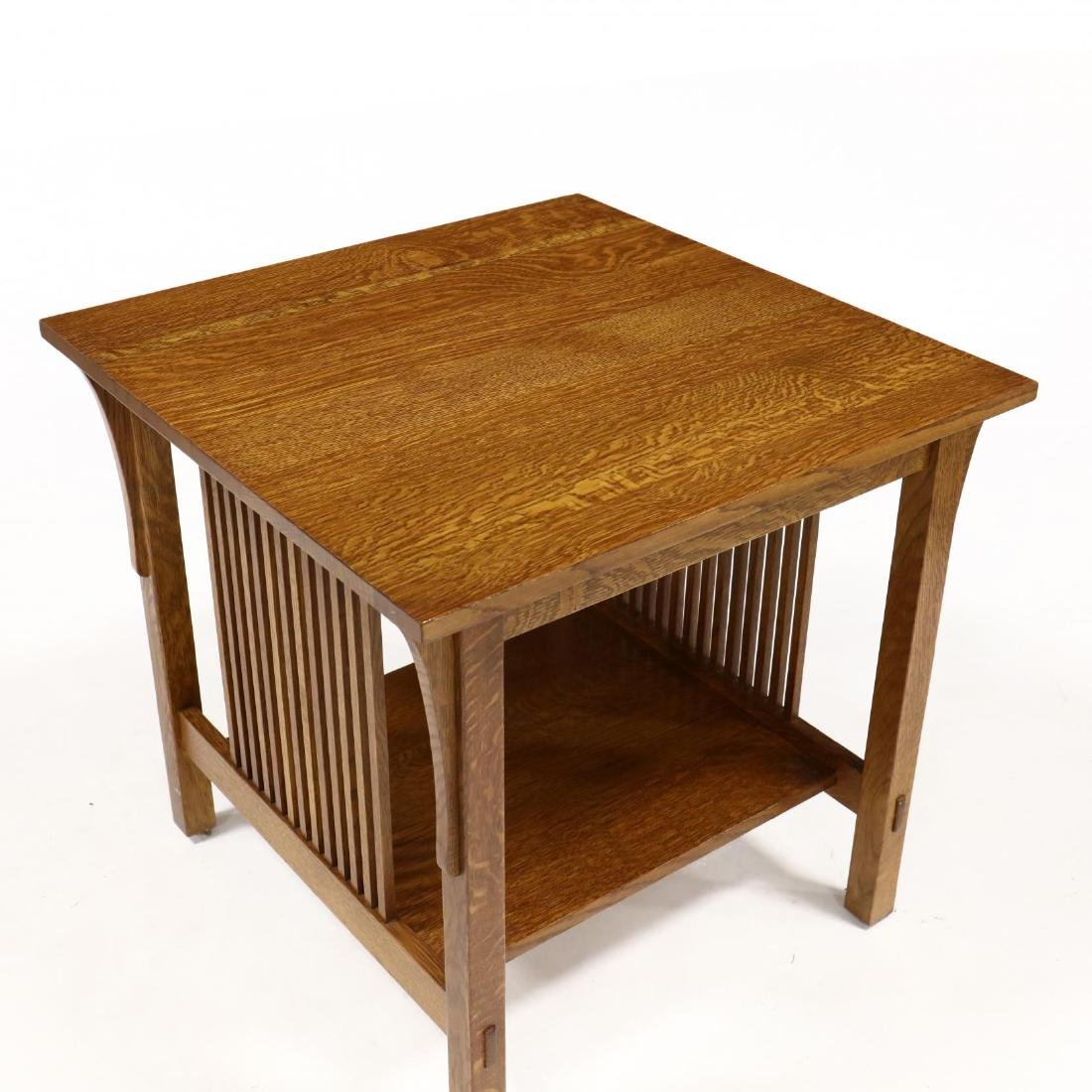 Stickley, Mission Style Oak Side Table - 2