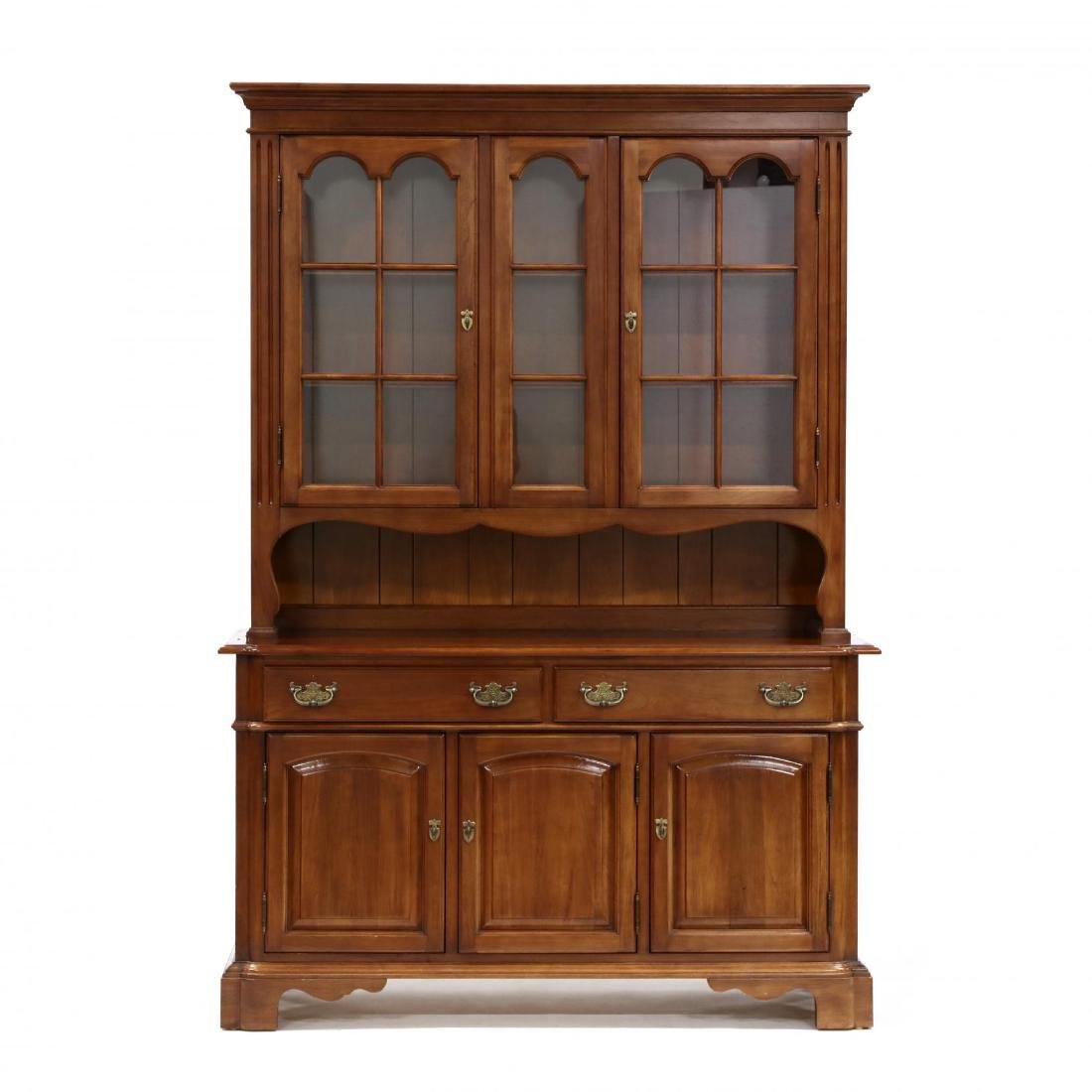 Monitor, Chippendale Style Cherry China Cabinet