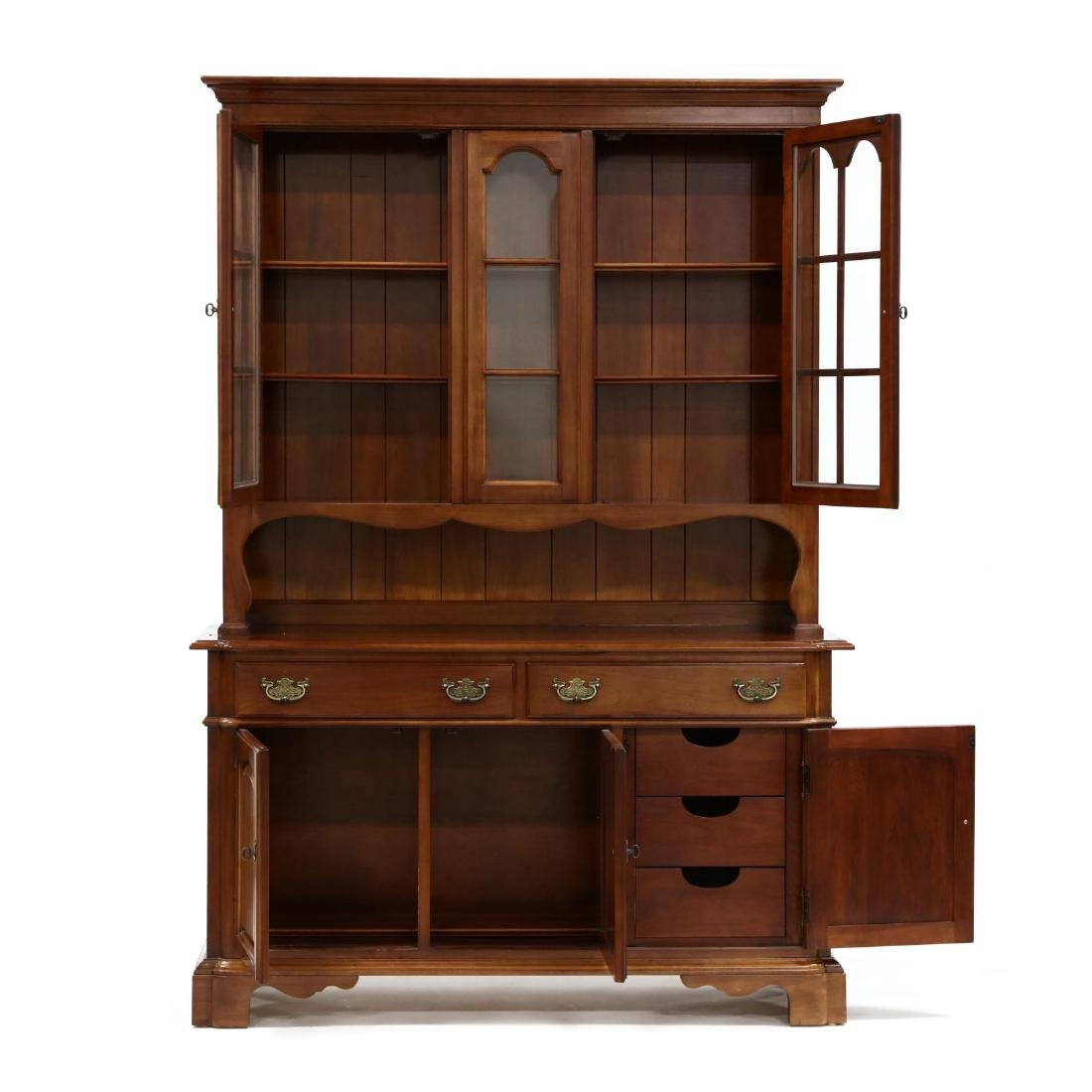 Monitor, Chippendale Style Cherry China Cabinet - 2