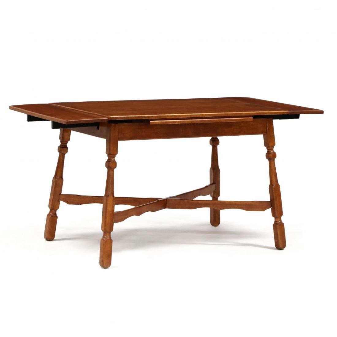 Vintage Colonial Style Maple Dining Table and Four - 3