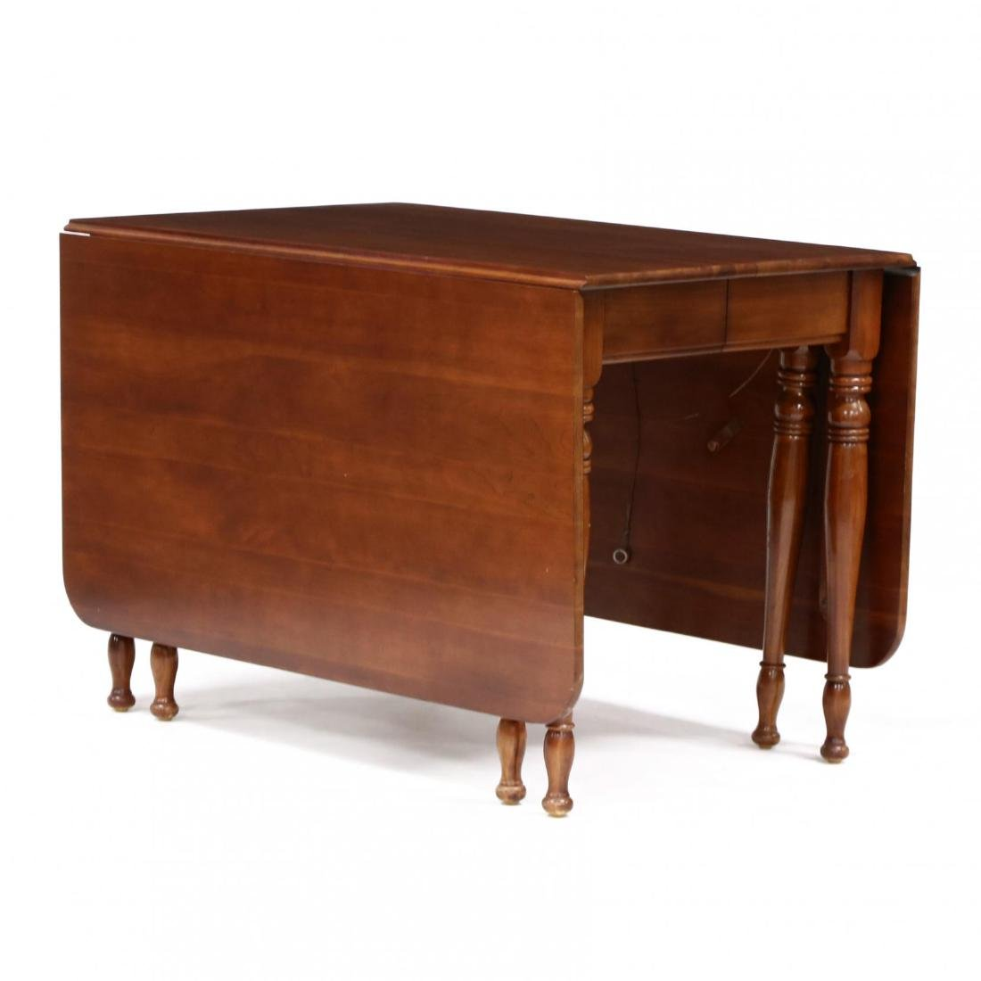 Monitor, Colonial Style Cherry Dropleaf Table and Four - 2