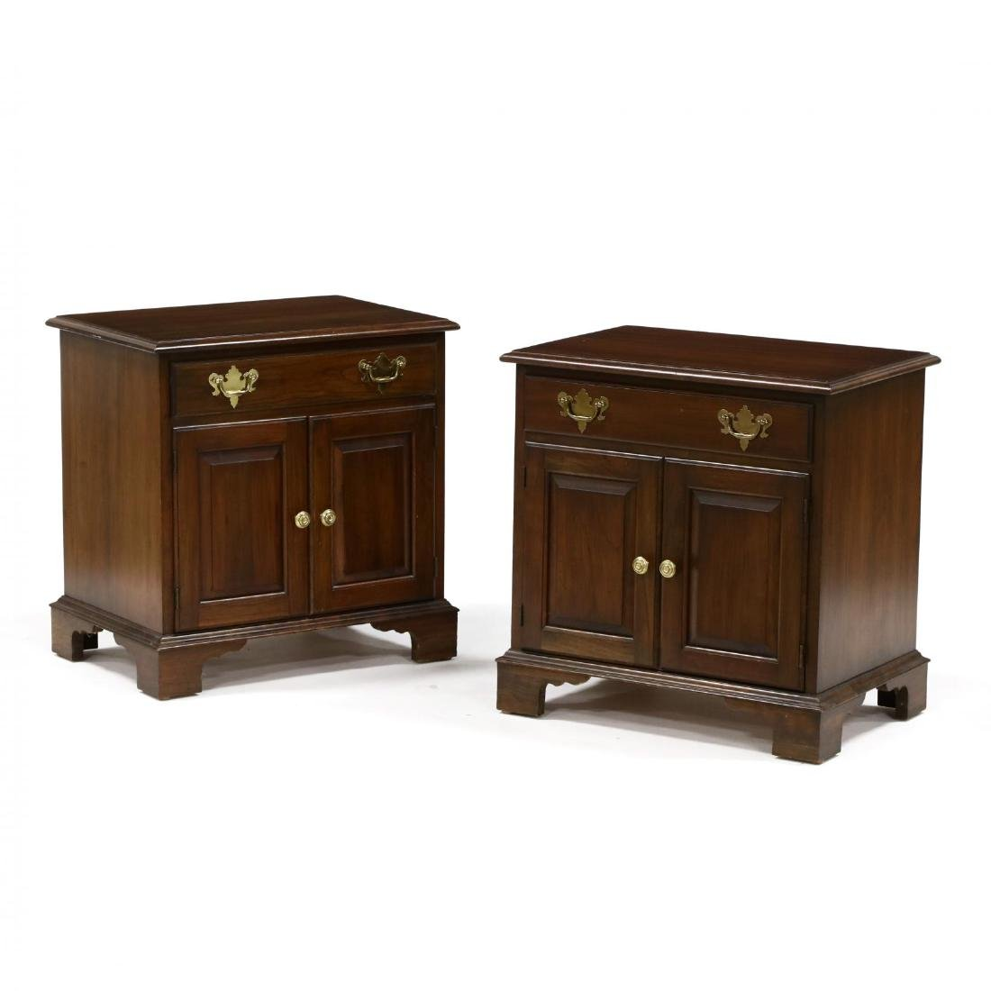 Pennsylvania House, Pair of Chippendale Style Cherry
