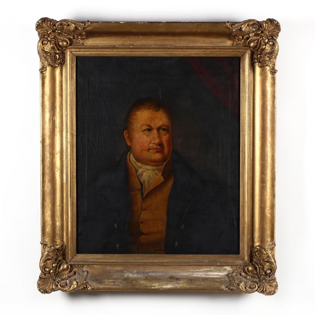 An Antique English School Portrait of a Man