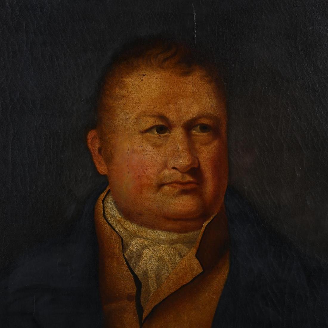 An Antique English School Portrait of a Man - 2