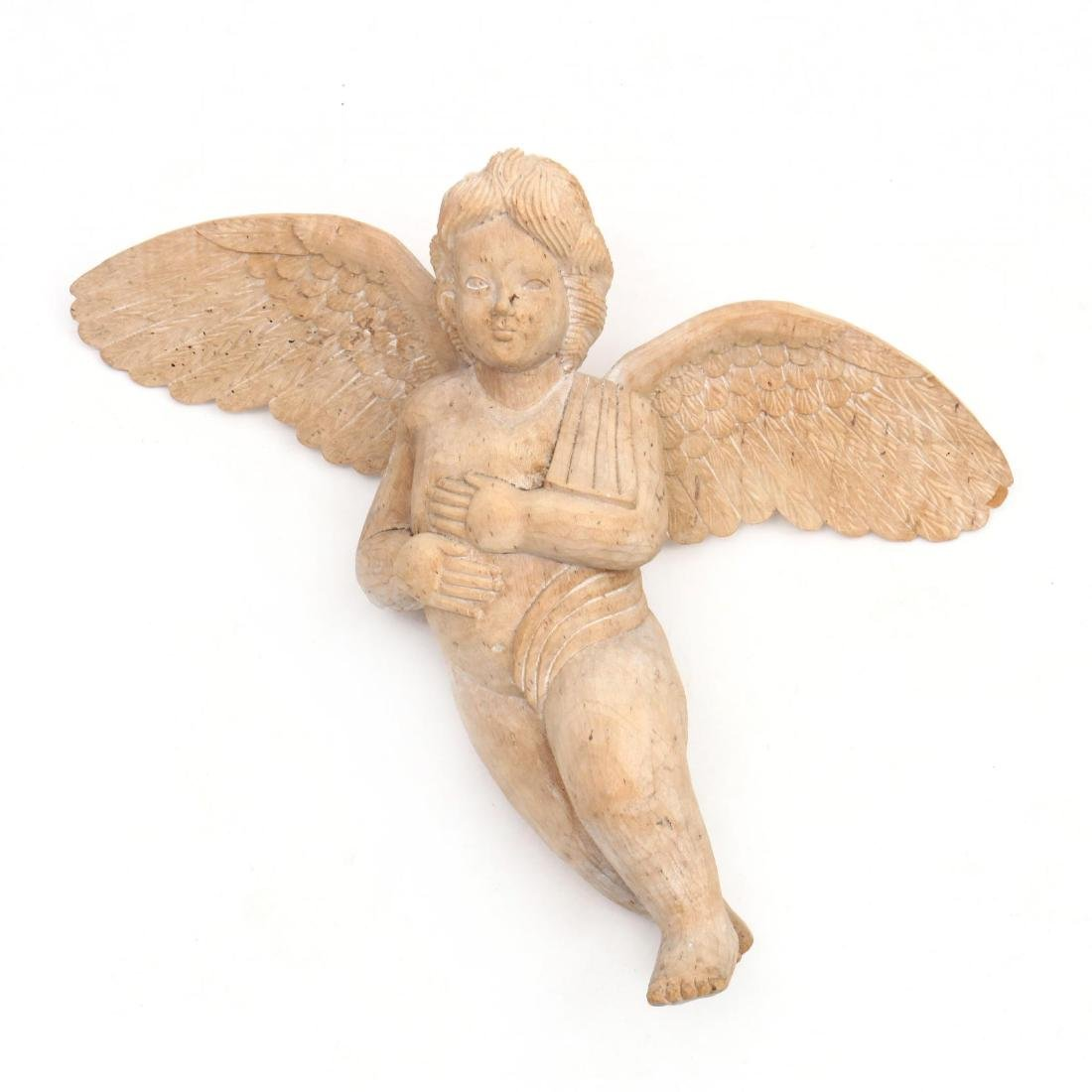 Italian Carved Wood Putto