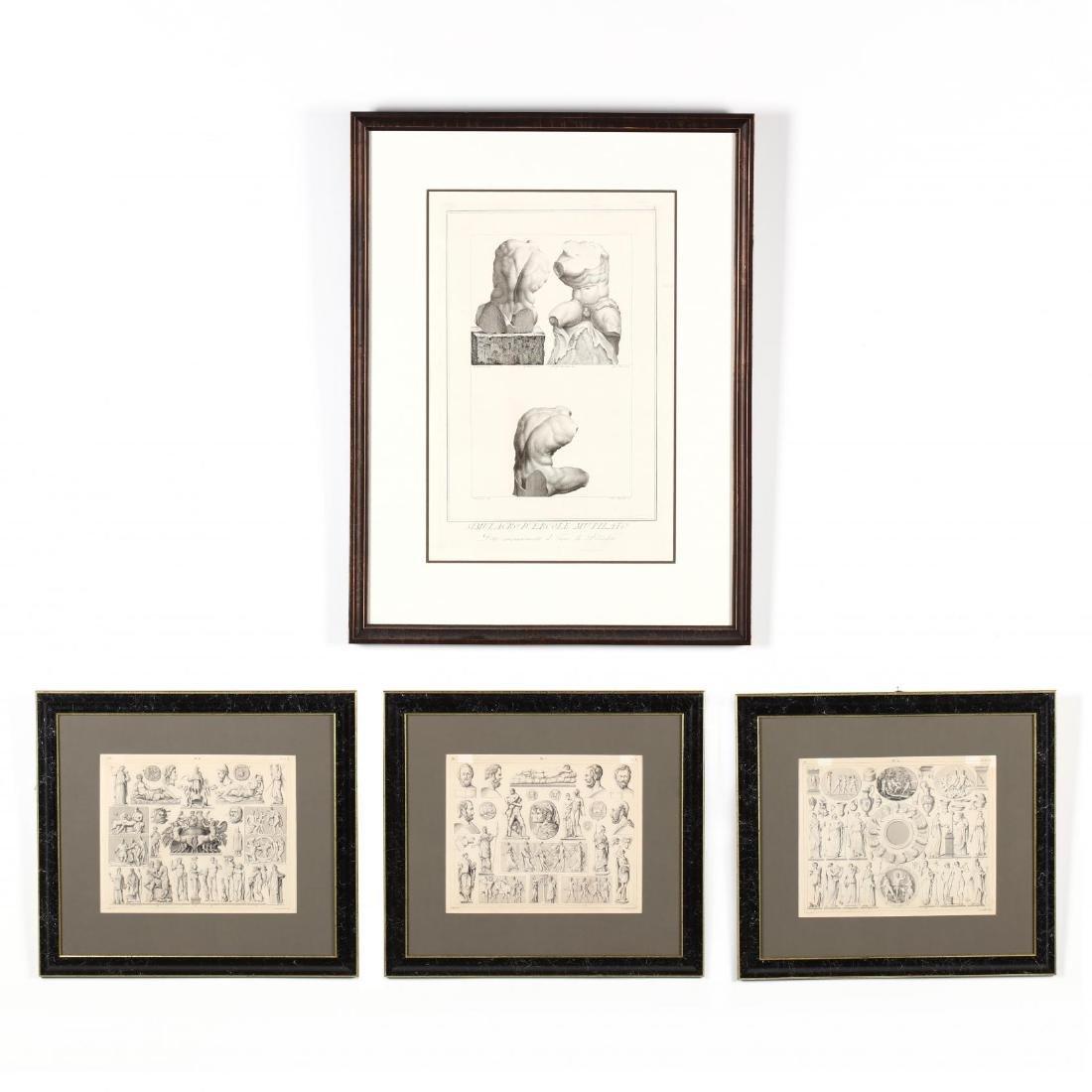 Four Antique Greco-Roman Prints