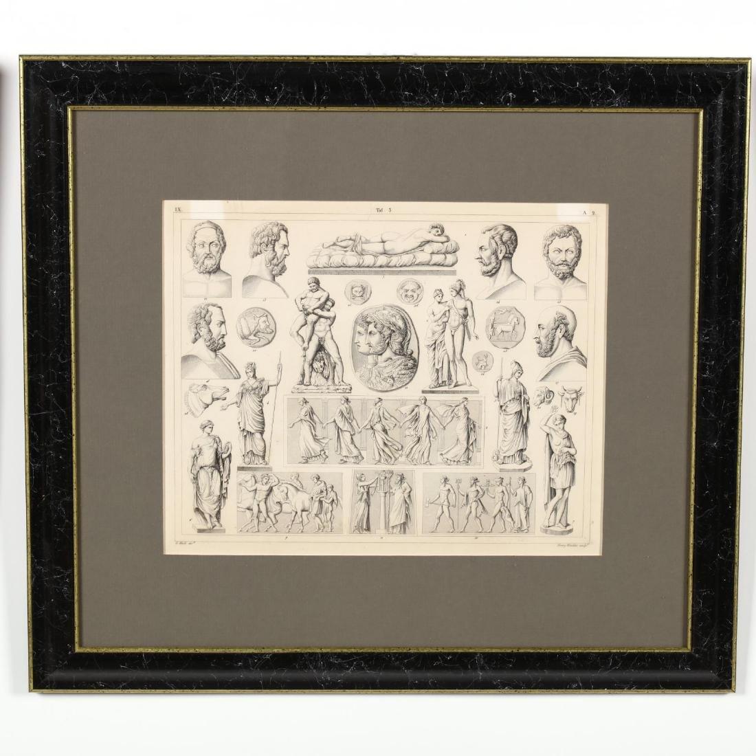 Four Antique Greco-Roman Prints - 5