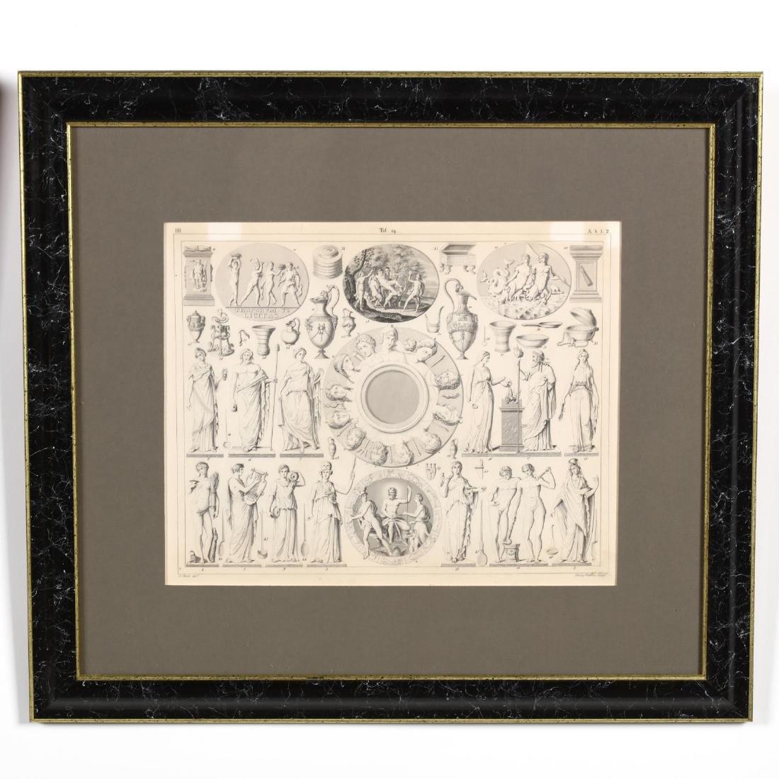 Four Antique Greco-Roman Prints - 6