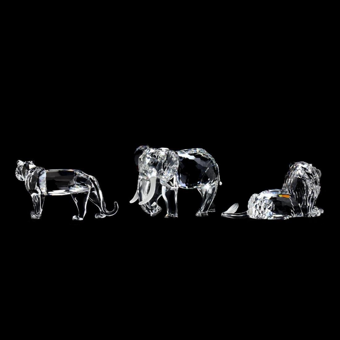 "Three Swarovski Crystal Animals from the ""Inspiration - 2"