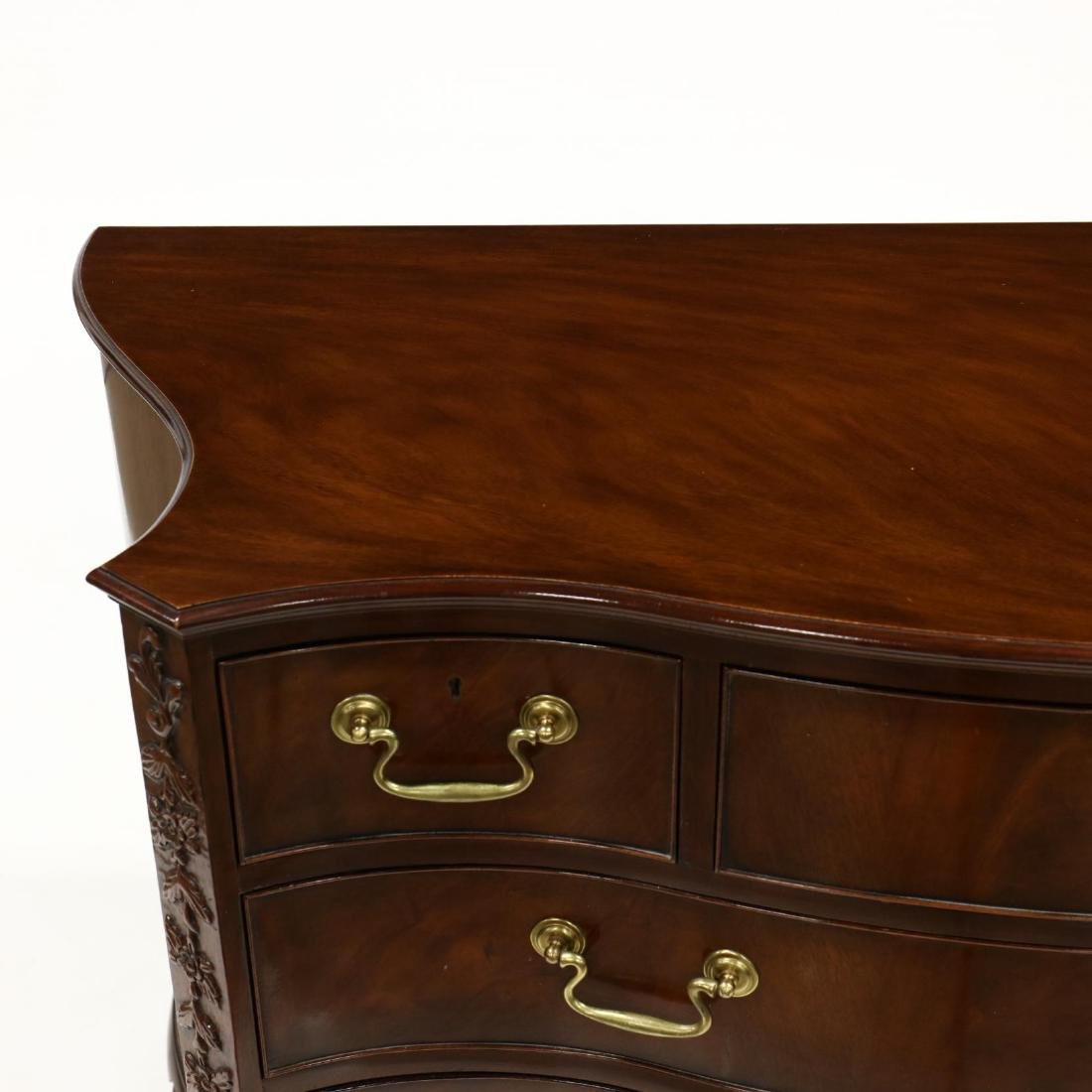 Baker, Chippendale Style Serpentine Front Chest of - 2