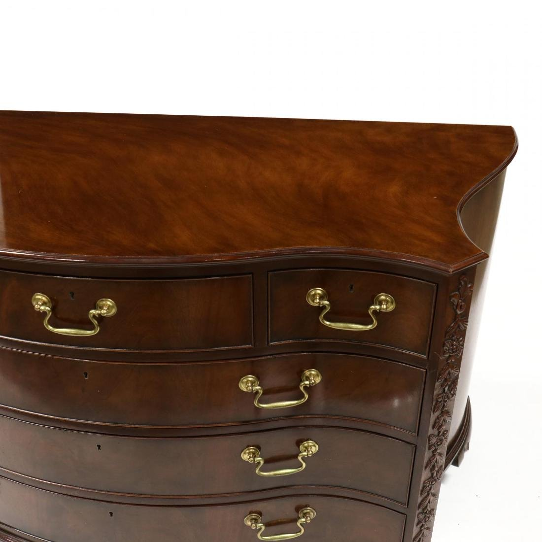 Baker, Chippendale Style Serpentine Front Chest of - 3
