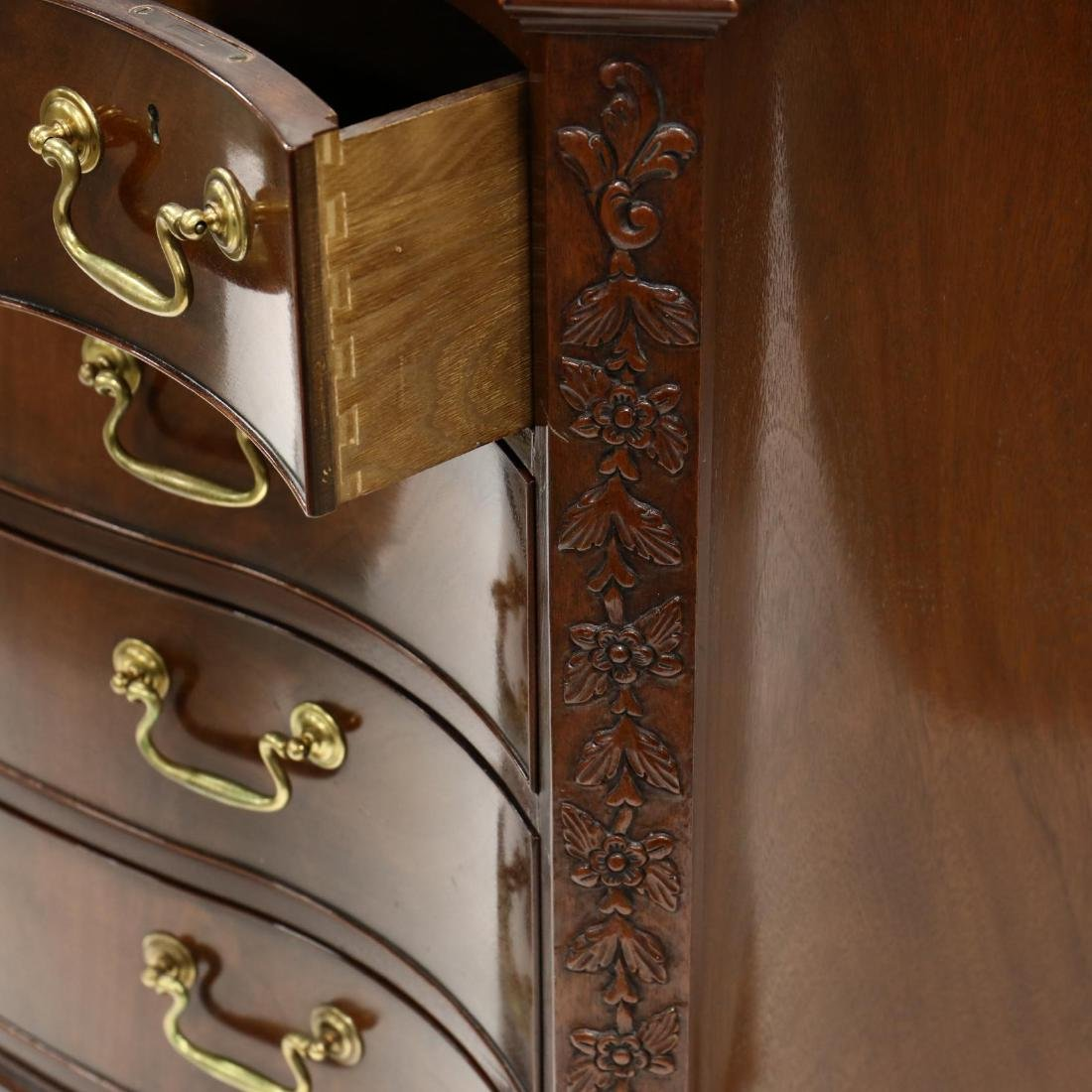 Baker, Chippendale Style Serpentine Front Chest of - 4