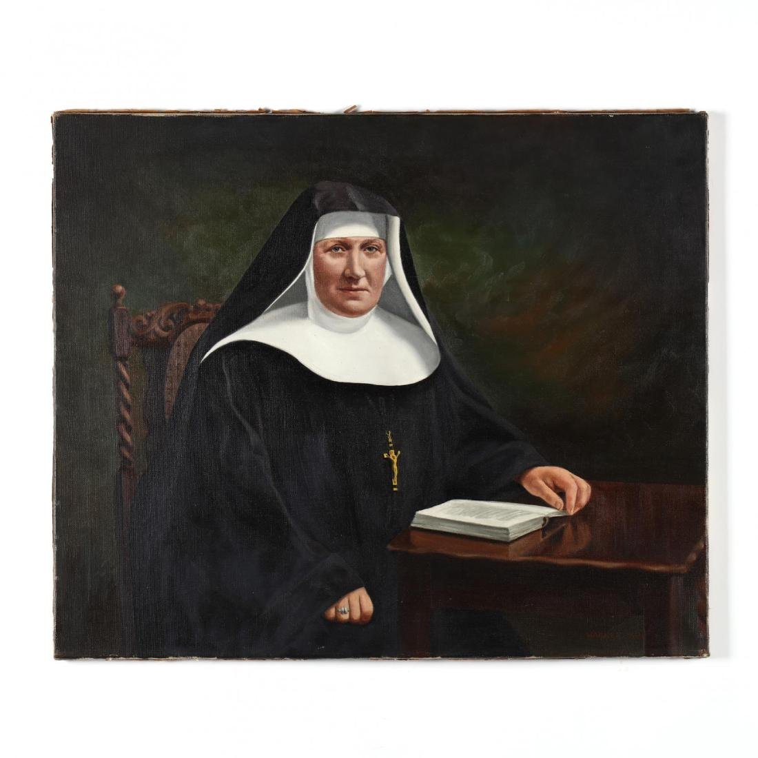 American School (20th Century), Portrait of a Nun