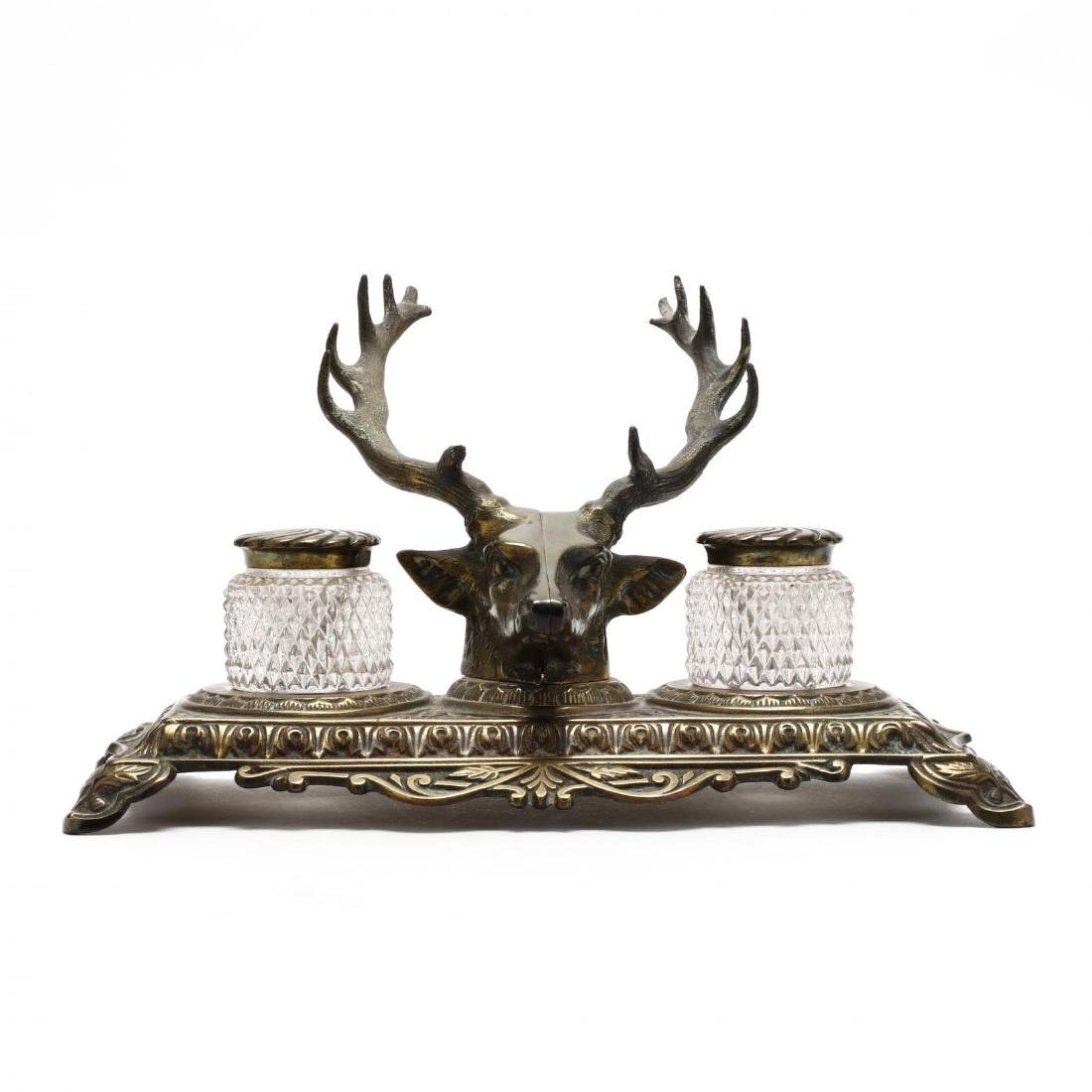 Bradley and Hubbard, Stag Form Inkwell