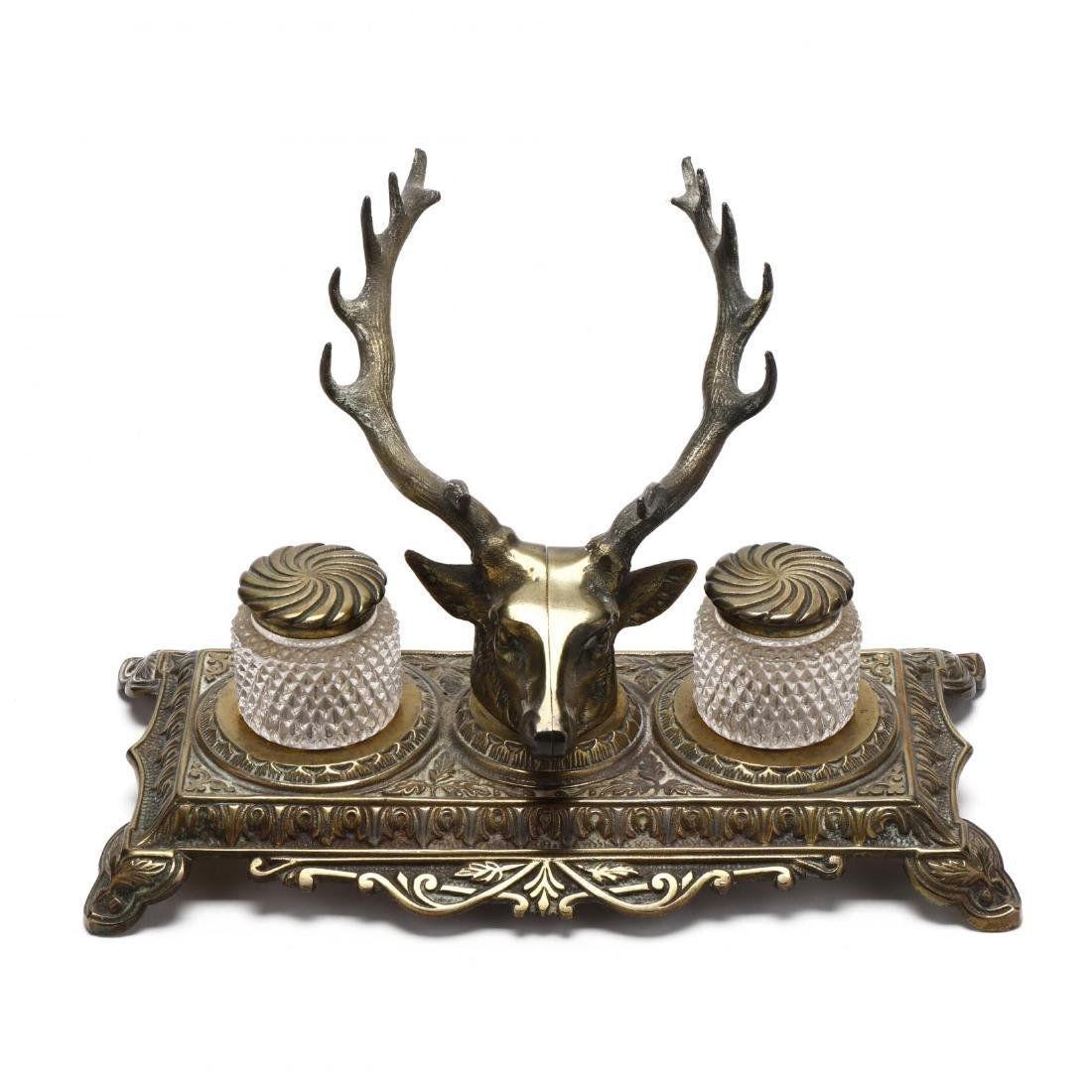 Bradley and Hubbard, Stag Form Inkwell - 2