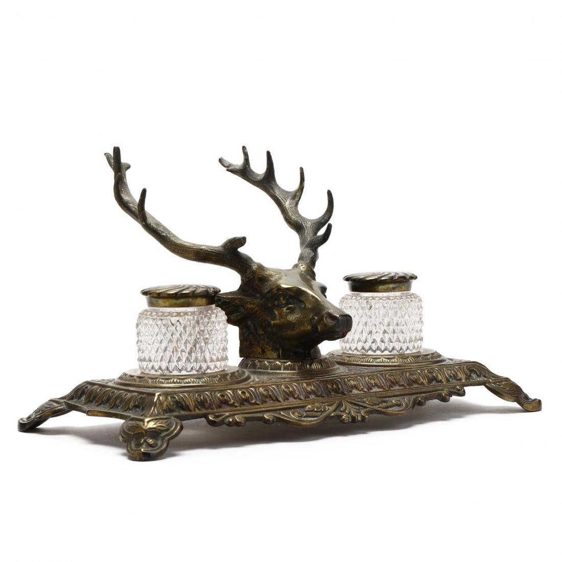 Bradley and Hubbard, Stag Form Inkwell - 4