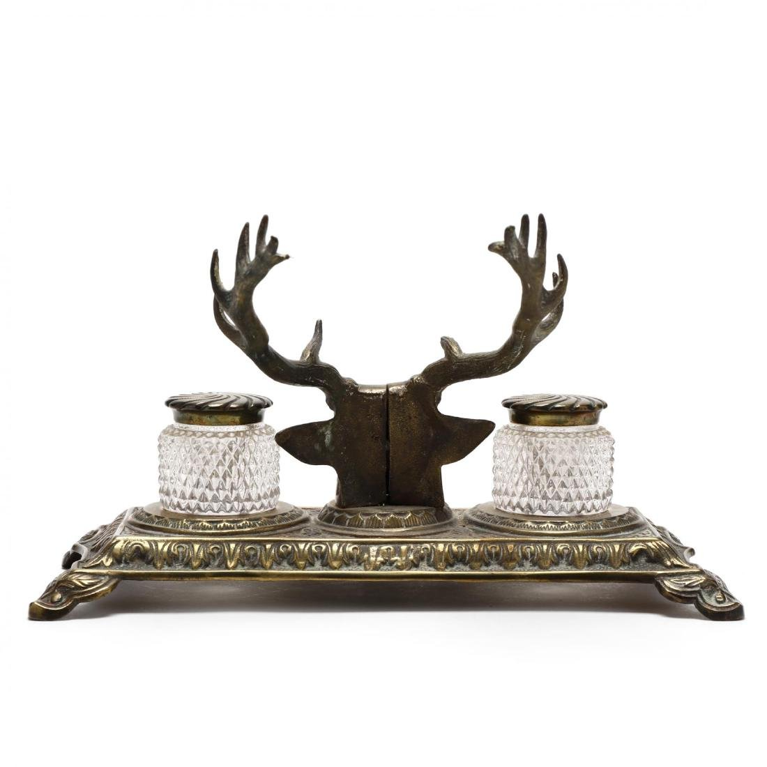 Bradley and Hubbard, Stag Form Inkwell - 5